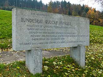 Schüpfen - Rudolf Minger memorial in Schüpfen