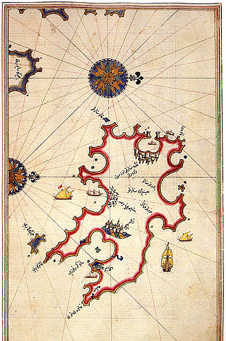 Ottoman invasion of the Balearic Islands (1558) - Image: Minorca by Piri Reis