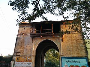 History of Palanpur - Mira Gate, the only surviving gate of city walls built by Bahadur Khan (1743 - 1768)