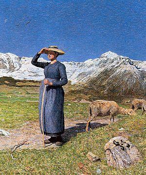 Giovanni Segantini - Image: Mittag in den Alpen 1891