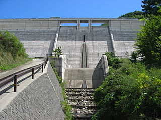 Mizukami Dam Dam in Nagano Prefecture, Japan