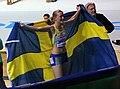 Moa Hjelmer and the Swedish flag.jpg