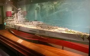 HMS Nelson (28) - Model of Nelson, in the Discovery Museum in Newcastle-Upon-Tyne
