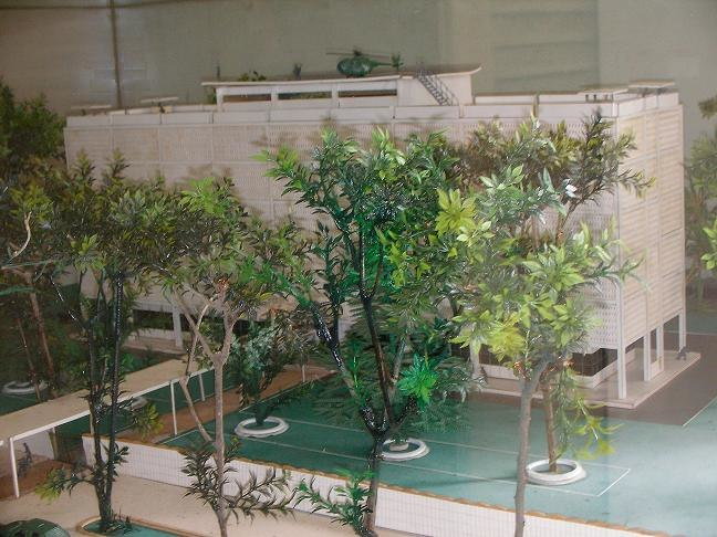 Model of US embassy in Saigon 1975