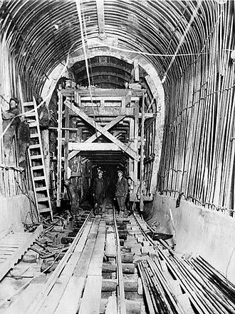 Moffat Tunnel - The nearly-completed tunnel in December 1927