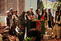 Mohammed Rahim, the governor of Darzad district, discusses the importance of the Afghan Local Police with Darzad and Qush Teppa district members during a shura, or meeting, at the Darzab district headquarters 120605-A-PO583-027.jpg