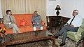 Mohd. Hamid Ansari meeting the Chief Minister of Jammu and Kashmir, Shri Omar Abdullah, at Srinagar, Jammu & Kashmir on September 14, 2012. The Governor of Jammu and Kashmir, Shri N.N. Vohra is also seen.jpg