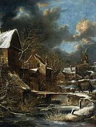 Nicolaes Molenaer: Winter landscape.