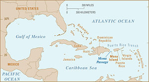 Mona Passage - Location of the Mona Passage