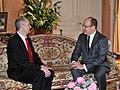 Monaco vürst Albert II ja Eesti suursaadik Monacos Sven Jürgenson, 22. märts 2011 (© Gaetan Luci Palais princier) (5550047532).jpg