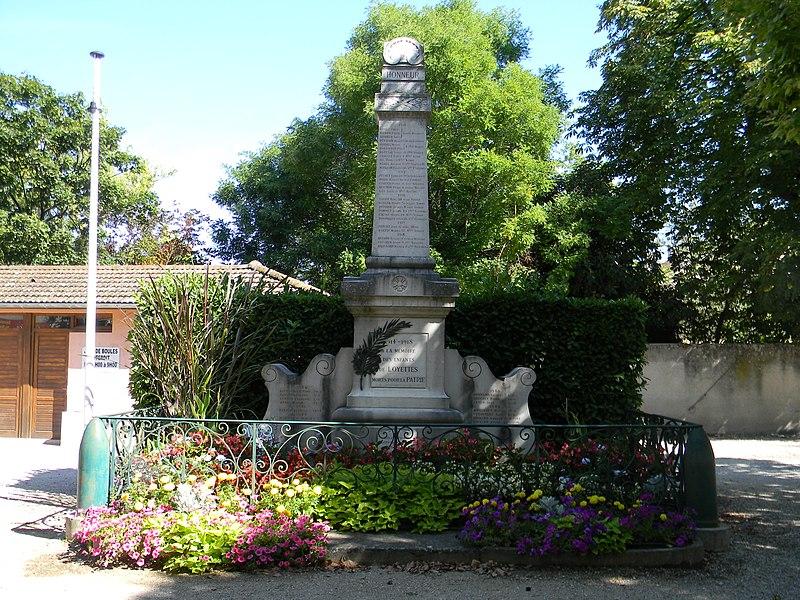 Monument aux morts de Loyettes.
