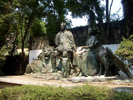 "Monument in Mexico City known as ""Monumento al Mestizaje"". Monumento al Mestizaje.jpg"