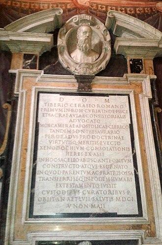 Cerasi Chapel - The funeral monument of Tiberio Cerasi.