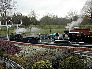 7 1/4 in gauge railway - The Moors Valley Railway, Dorset, England