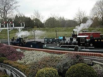 7 1/4 in gauge railway - The Moors Valley Railway, Dorset, England