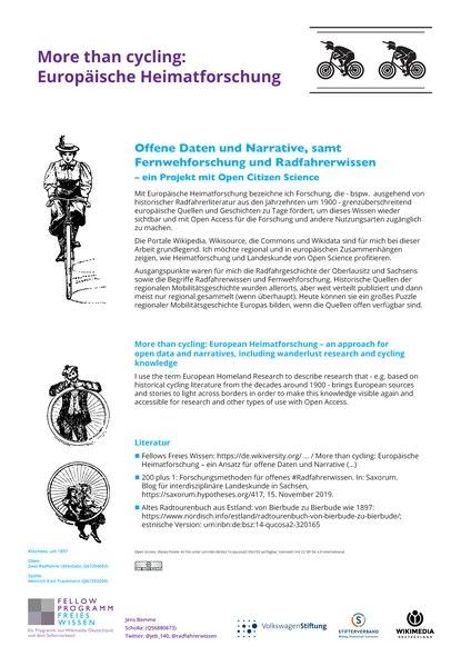 More Than Cycling: Europäische Heimatforschung
