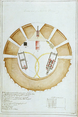 Torra di Mortella - Image: Mortella tower plan PAD1622