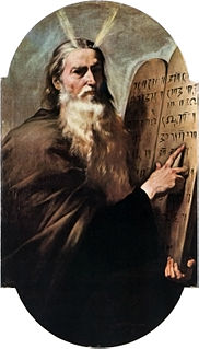 tradition that Moses was the author of the Torah; denied by the majority of scholars