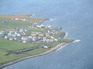 Mossbank, Shetland - Image: Mossbank From The Air