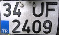 Motorcycle license plate Turkey (34 - Istanbul).jpg