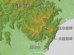 Mount Takakusa & Mount Mankanho & Utsunoya Pass & Nihonzaka Pass Relief Map, SRTM-1.jpg