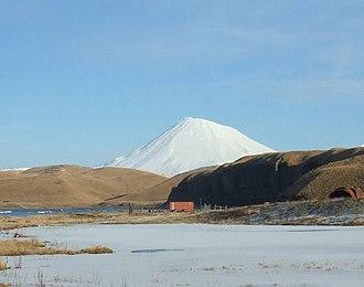 Nikolski, Alaska - Mount Vsevidof from Nikolski