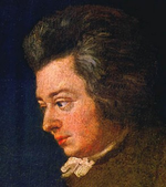 Portrait of Mozart by Joseph Lange