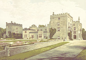 Baron Muncaster - Muncaster Castle circa 1880;   the ancestral seat of the Pennington family