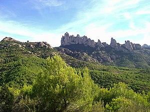 Combat of El Bruc - Image: Muntanya de Montserrat