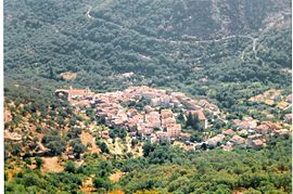 The village of Muro, seen from the nearby hillside