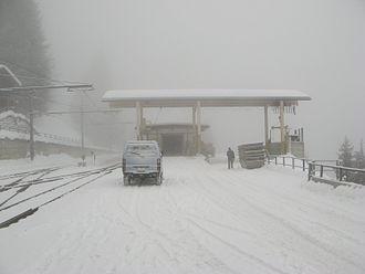 Mürren - Mürren Railway Station during winter