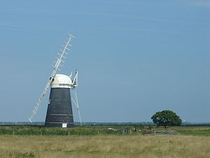 The Broads - Muttons mill, one of the many historic drainage windpumps on the Norfolk Broads