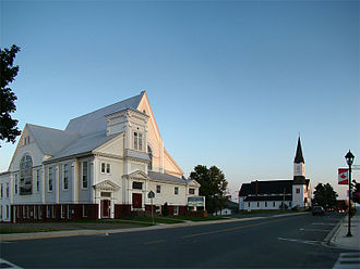 Woodstock, New Brunswick - Sunset on Main Street