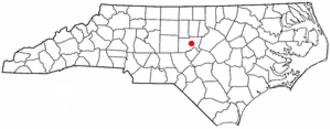 Pittsboro, North Carolina - Image: NC Map doton Pittsboro