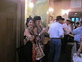 NOLA Trad Jazz Camp 2012 Orleans Ave Parade Bar Stop Flappers.JPG
