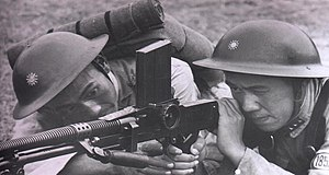 ZB vz. 26 - Chinese National Revolutionary Army soldiers firing the ZB vz. 26.