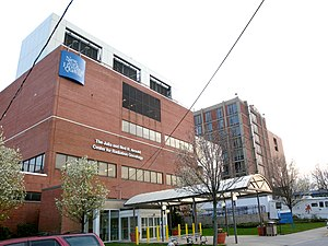 NewYork–Presbyterian/Queens - The Center for Radiation Oncology at the north end of the campus.