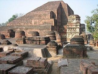 Nalanda Ancient Buddhist monastery in India
