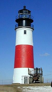 Sankaty Head lighthouse at the eastern end of Nantucket Island, Massachusetts ca. November 2000