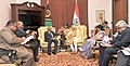 Narendra Modi meeting the Prime Minister of Vanuatu, Mr. Sato Kilman, in Jaipur on August 21, 2015. The Union Minister for External Affairs and Overseas Indian Affairs, Smt. Sushma Swaraj is also seen (1).jpg
