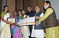 Narendra Singh Tomar conferred the National Awards on Best Performing Women Self-Help Groups and Village Organisations under DAY-NRLM, at a function, in New Delhi (3).jpg