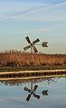 Nationaal Park Weerribben-Wieden. Watermolen in het rietland van de Weerribben 01.jpg