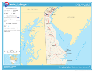 Delaware Wikipedia - Delaware location in usa map