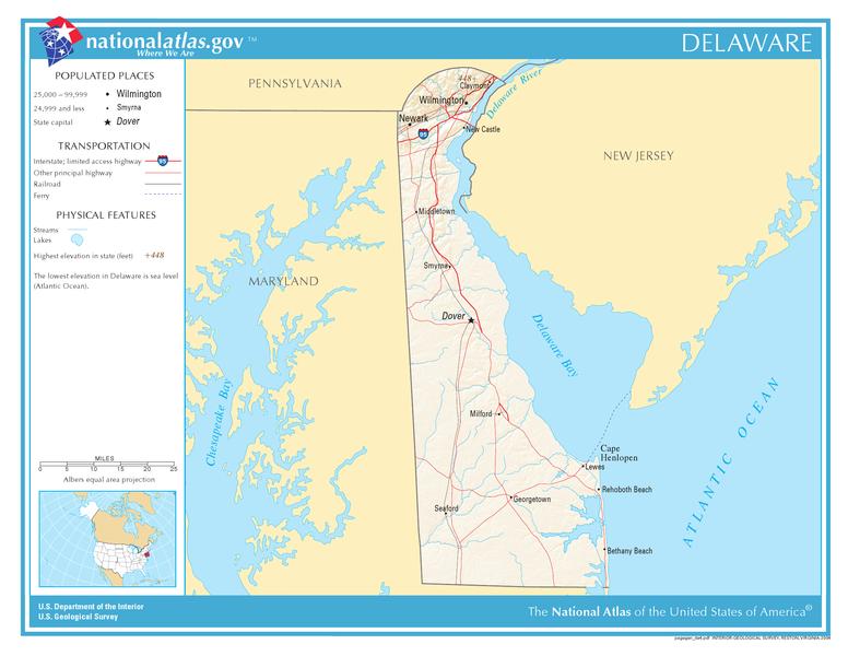 Carte Delaware