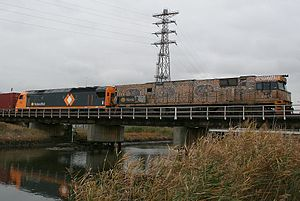 National Rail Corporation - NR class and AN class in Melbourne in June 2006