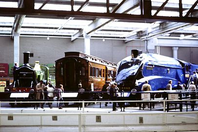 the great hall 1981 4468 mallard at the national railway museum york