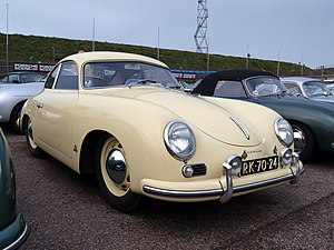 Porsche 356 - 1954 Porsche 356, showing the V-shaped front windshield
