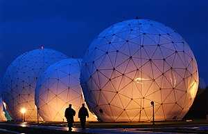 Radome - Geodesic radomes at the Misawa Security Operations Center, Misawa, Japan