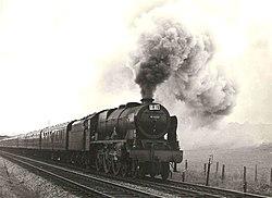 """Near Mangotsfield, Bristol. 1959, Loco 46137 """"The Prince of Wales's Volunteers (South Lancashire)"""" - panoramio.jpg"""