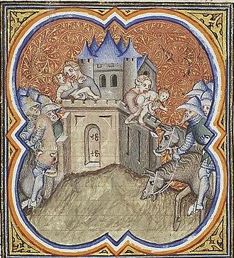 Siege of Jerusalem (587 BC) - Image: Nebuchadnezzar camp outside Jerusalem. Famine in the city